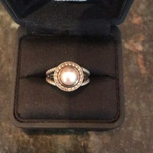 David Yurman Pearl Diamond Ring